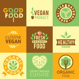 Fresh Organic Labels and Elements,icons Stock Image