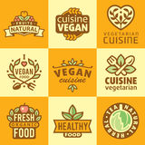 Fresh Organic Labels and Elements,icons Royalty Free Stock Photos
