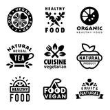 Fresh Organic Labels and Elements Stock Photo