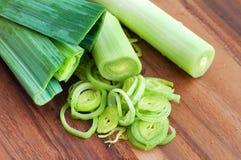 Fresh organic leek Royalty Free Stock Images