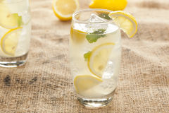 Fresh Organic Lemonade with mint leaves Royalty Free Stock Photography