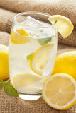 Fresh Organic Lemonade with mint leaves Stock Photos