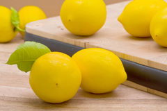 Fresh organic lemons Stock Photos