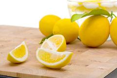 Fresh organic lemons Stock Photo