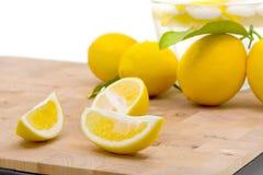 Fresh organic lemons Stock Photo