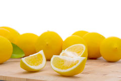 Fresh organic lemons Royalty Free Stock Images