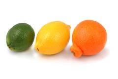 Fresh Organic Lime, Lemon and Tangelo stock photography