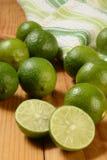 Fresh organic limes Royalty Free Stock Photography