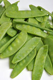 Fresh organic mangetout Stock Images