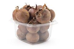 Fresh organic medlars Stock Image