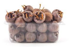 Fresh organic medlars stock photos