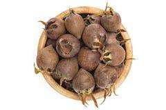 Fresh organic medlars Stock Photo
