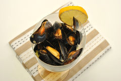 fresh organic mussel in garlic butter Stock Images