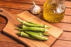 Fresh Organic Okra Stock Photography