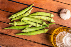 Fresh Organic Okra Stock Images