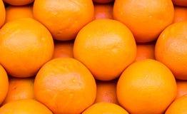 Fresh Organic orange ordered. Market Stock Images