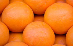 Fresh Organic orange ordered. Market Stock Photos
