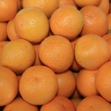 Fresh organic Oranges on Farmers Market stock photo