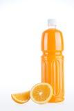 Fresh organic oranges and orange juice Stock Photo