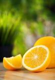 Fresh organic oranges Stock Photo