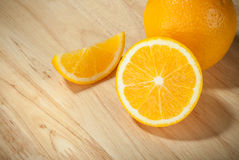 Fresh organic oranges Royalty Free Stock Photos