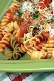 Fresh organic pasta macro. Exquisite macro closeup of fresh aromatic vegan and also organic pasta royalty free stock photography