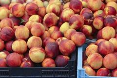 Fresh organic peaches Stock Photo
