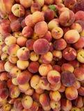 Fresh Organic Peaches, Full Frame Organic Food Background Stock Photo