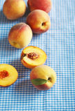 Fresh organic peaches Stock Photos