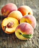 Fresh organic peaches Royalty Free Stock Image