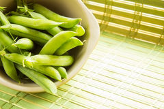 Fresh Organic Peas Royalty Free Stock Photography