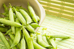 Fresh Organic Peas Royalty Free Stock Photo