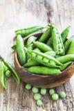 Fresh Organic Peas Stock Image