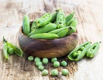 Fresh Organic Peas Royalty Free Stock Images