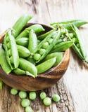 Fresh Organic Peas Stock Photography
