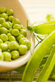 Fresh Organic Peas Stock Images