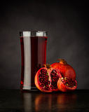 Fresh Organic Pomegranate Juice royalty free stock photography