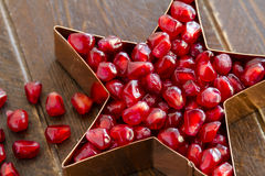 Fresh Organic Pomegranate Seeds Royalty Free Stock Photography