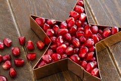 Fresh Organic Pomegranate Seeds Royalty Free Stock Photo