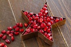 Fresh Organic Pomegranate Seeds Royalty Free Stock Images