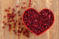 Fresh Organic Pomegranate Seeds Royalty Free Stock Image