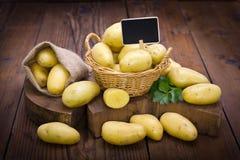 Fresh organic potatoes Royalty Free Stock Photography