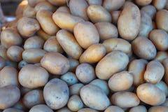 Fresh, organic potatoes on the market. Stock Photo