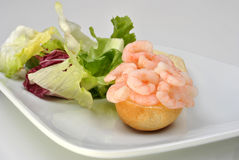 fresh organic prawns ready to eat Royalty Free Stock Photos