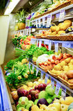 Fresh Organic Produce. Produce aisle in an organic supermarket in Kauai, Hawaii, USA Royalty Free Stock Photography