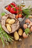 Fresh organic produce Royalty Free Stock Photos