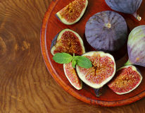 Fresh organic purple fig fruit Royalty Free Stock Photography