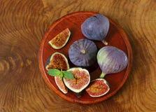 Fresh organic purple fig fruit Royalty Free Stock Image