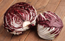 Fresh organic Radicchio Lettuce. Ready for eating and cooking Stock Photo