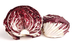 Fresh organic Radicchio Lettuce. Ready for eating and cooking Stock Image